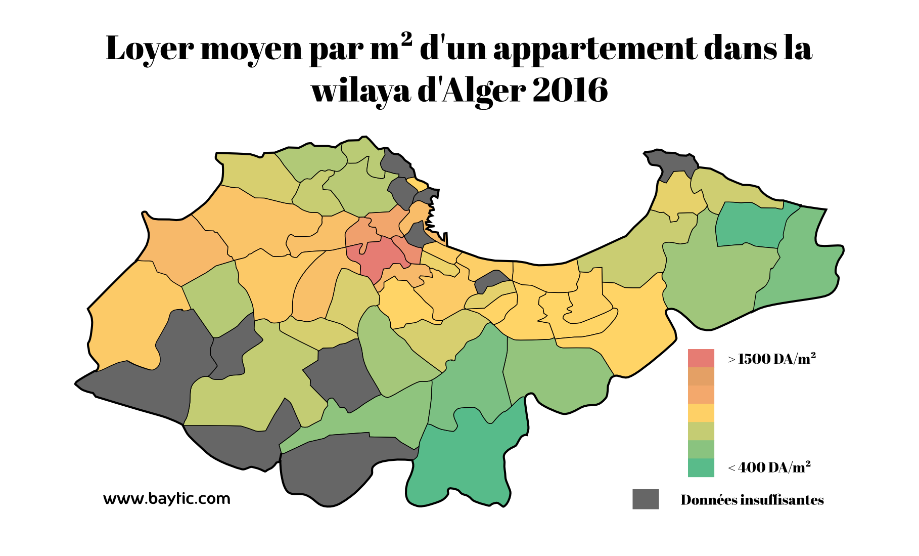 loyer appartement alger
