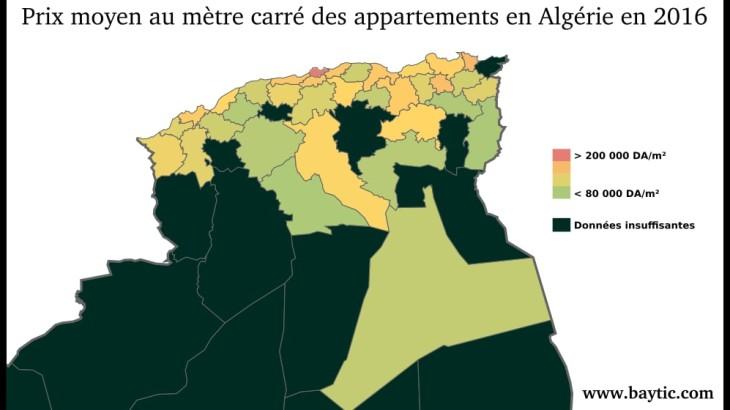 Algérie Prix appartement